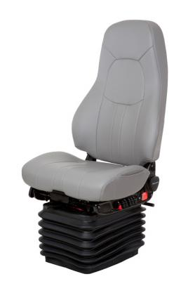 Truck Seat, HiPro HP Air Suspension, Bellows, Hi-Back, Grey Ultraleather | NationalSeating