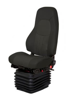 Truck Seat, HiPro HP Air Suspension, Bellows, Hi-Back, Heating+Cooling, Driver Swivel, Lonestar Black/Black Leather | NationalSeating