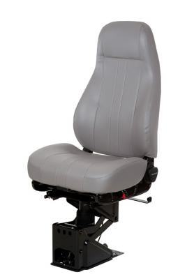 CaptainTruck Seat, HiPro 95 Air Suspension, Hi-Back, Opal Grey Vinyl | National Seating