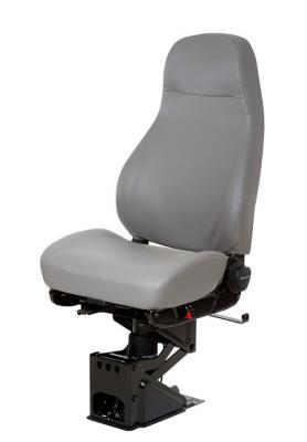 Truck Seat, HiPro 95 Air Suspension, Hi-Back, Opal Grey Vinyl | National Seating