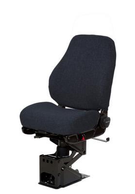 EnsignTruck Seat, HiPro 95 Air Suspension, Hi-Back, Black Forever Cloth | National Seating