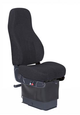Routemaster 350School Bus Seat, HiPro 95 Dual damper Air Suspension, Drape, Black Mordura Cloth | National Seating