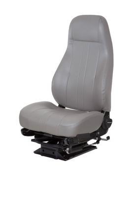 Captain Lo EZ-AireTruck Seat, LoPro 97 EZ-Aire Suspension, Dual Armrests, Opal Grey Vinyl | National Seating