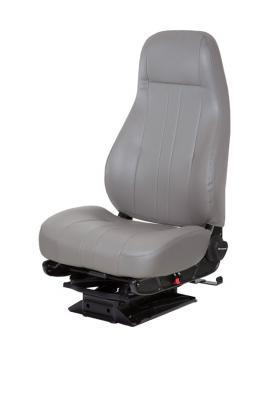 Captain LoTruck Seat, LoPro 97 Air Suspension, Opal Grey Vinyl | National Seating